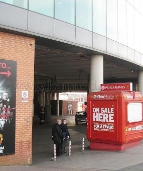 Περίπτερα του Ηνωμένου Βασιλείου στο Manchester Old Trafford και στο στάδιο Camp Nou