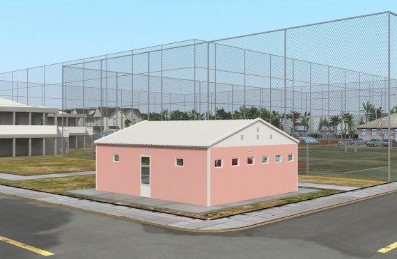 Προκατασκευασμένο WC & Ντους Κτίριο 70 m²