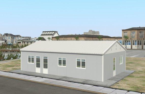 Προκατασκευασμένη εμπορική κουζίνα 89 m²