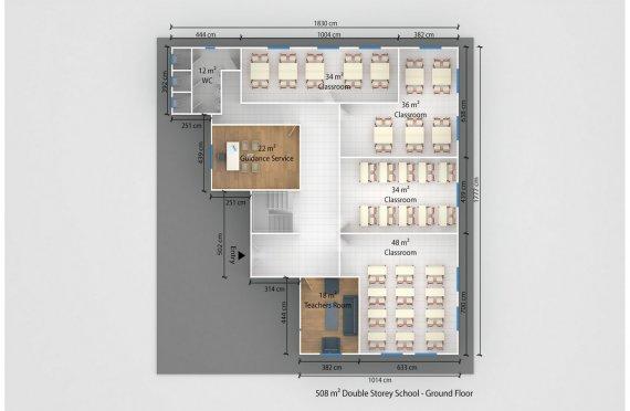Φορητή Αίθουσα Διδασκαλίας 508m²