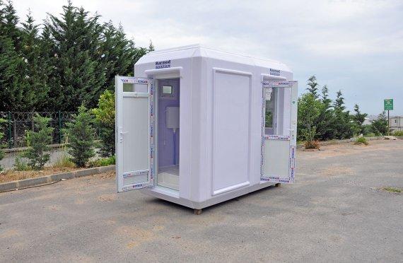 Φορητή τουαλέτα και καμπίνα ασφαλείας 150x270