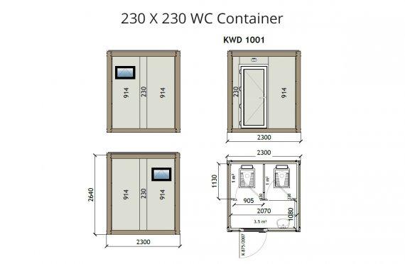Κοντείνερ KW2 230X230 Wc