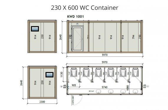 κοντείνερ KW6 230X600 Wc