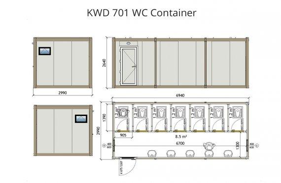 κοντείνερ KWD 701 Wc