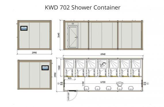 Κοντείνερ Ντους KWD 702