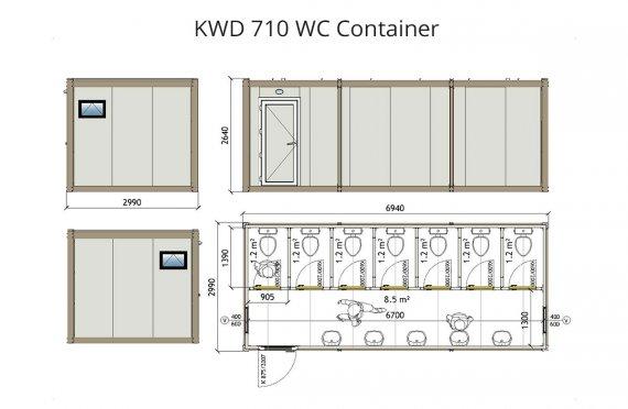 Κοντείνερ KWD 710 Wc